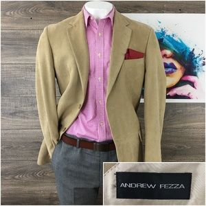Andrew Fezza Mens Silk Blazer Sport Coat